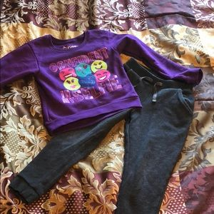 Sweatsuit girls xs, 4pants